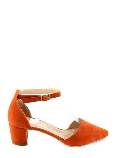 Bambi Topuklu Ayakkabı Oranj